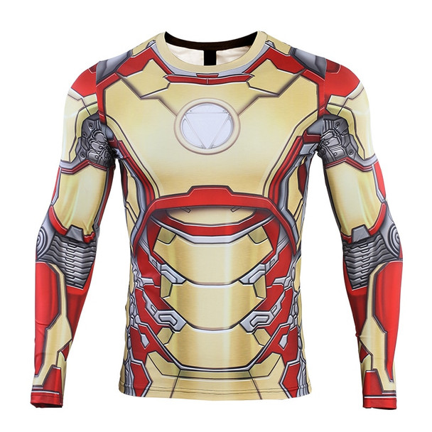 iron Man MK42 2019 New 3D Compression Shirt Printed shirts Men Compression Shirt Cosplay Quick-drying clothes For Gyms T Shirts