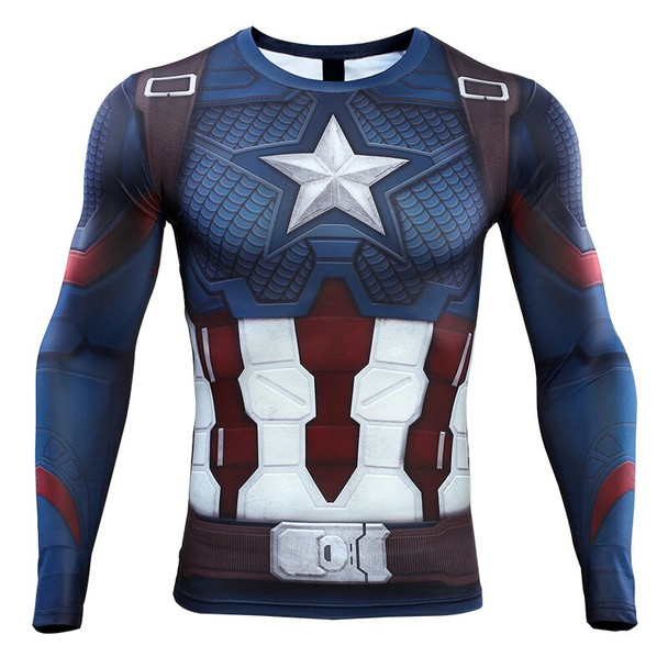 Avengers4 2019 New 3D Compression Shirt Printed T shirts Men Compression Shirt Cosplay Quick-drying clothes For Gyms T Shirts