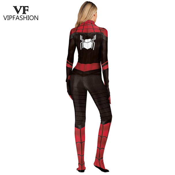 VIP FASHION SpiderMan Far From Home Peter Parker Cosplay Zentai Of Justice Superhero Women And Men Cosplay Costume For Unisex