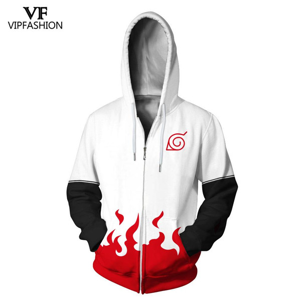 VIP Fashion 2019 High Quality Halloween Party Style Women Sweatshirt 3d Naruto Printed Cartoon Pattern Design Hoodies For Man