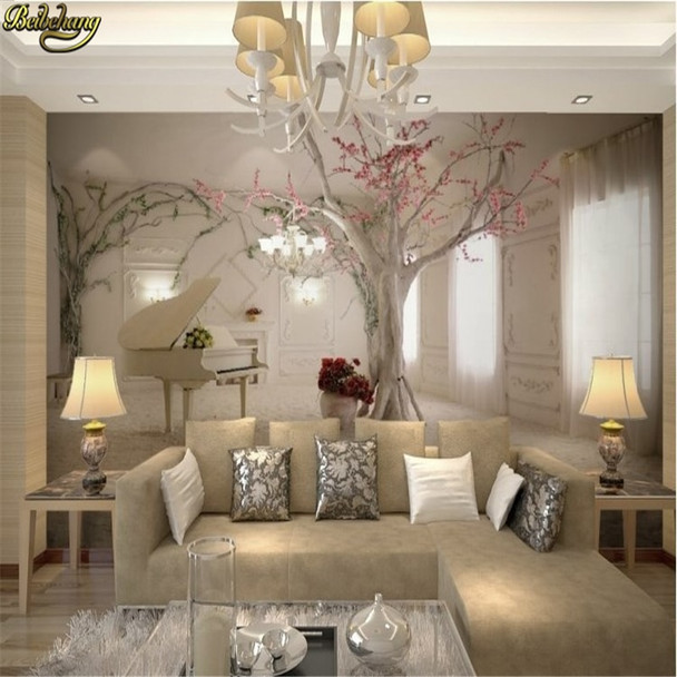beibehang Custom 3d mural wall paper TV backdrop sofa space to expand 3d photo wallpaper for walls 3 d flooring paper