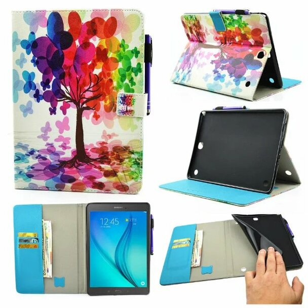 Smart PU Leather Cover Case For Samsung Galaxy Tab A 9.7 SM-T550 SM-T555 T550 Case 2 Folding Flip Cover Shell Stand Case