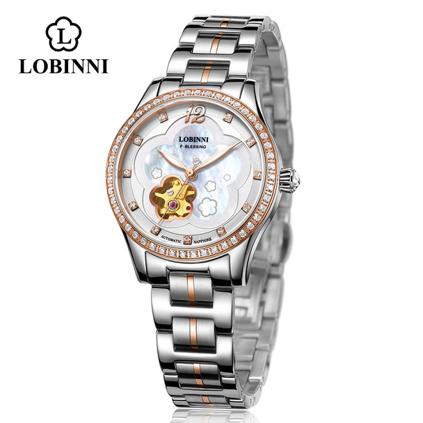 Luxury Switzerland Brand Womens Waterproof Steel Strap Crystal Japan MIYOTA Automatic Mechanical Wrist Watch Female Watches