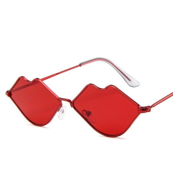 Sexy Red Lips Sunglasses Red Herat Shaped Vintage sun galsses for Women Festival Party Sun Glasses Ladies Eyeglasses UV400