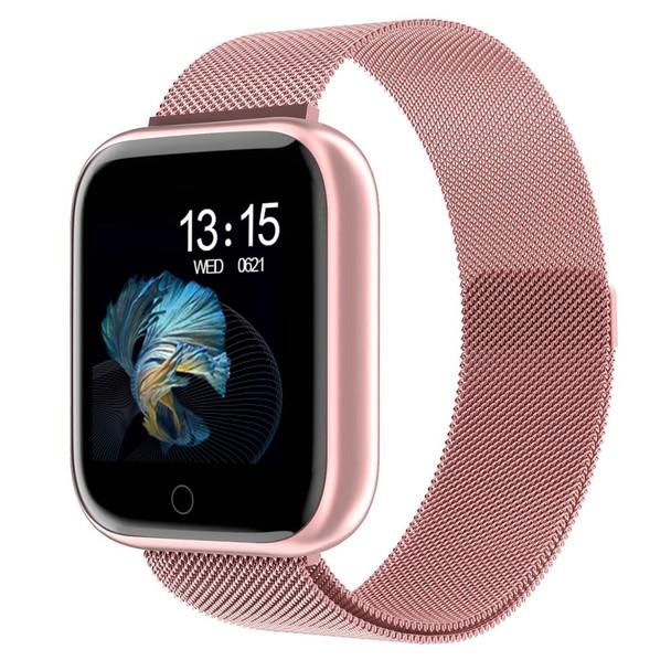 2019 New Women Waterproof Smart Watch T80 Bluetooth Smartwatch For Apple IPhone Xiaomi Heart Rate Monitor Fitness Tracker