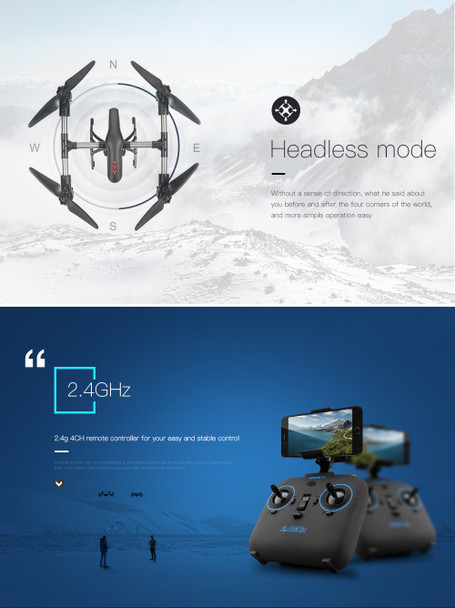 JD-11 Aititude Hold 2.4G 4CH WiFi RC Quadcopter 6-Axis Gyro 2MP HD FPV Drone