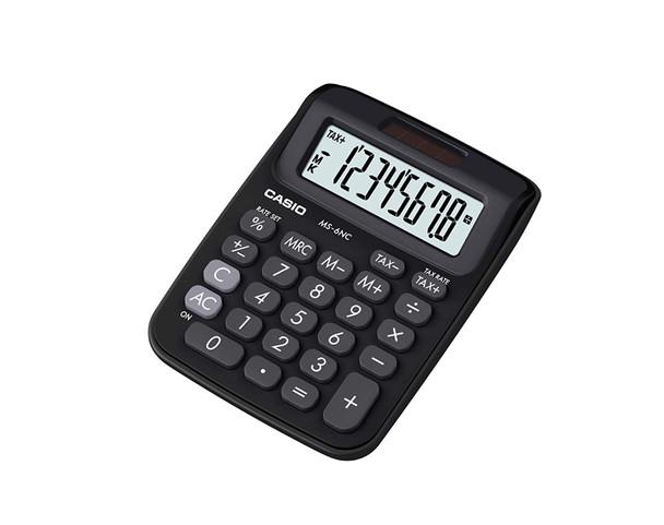 Casio MS-6NC-BK Desktop Calculator (Black & White )