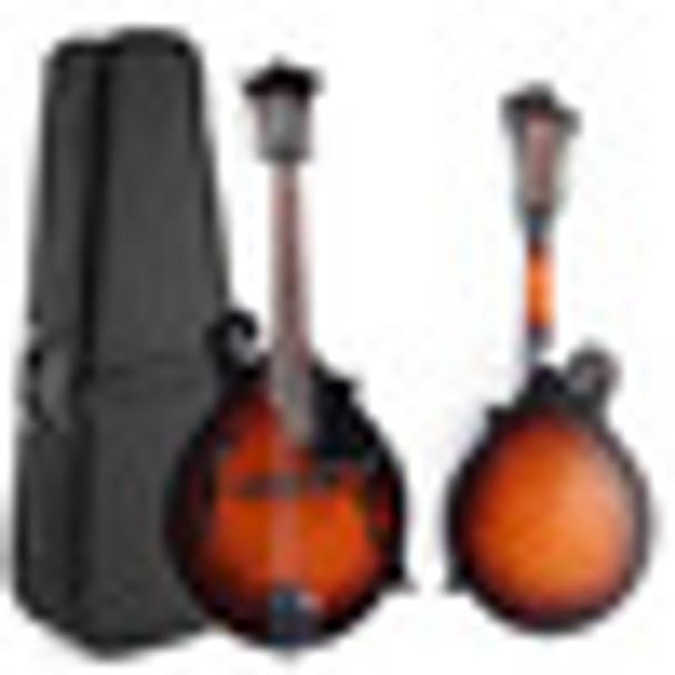 39'' Sunset F-Model Mandolin 8 Strings Concert Ukulele Bass Guitar with Ukulele Case For Musical Stringed Instrument Lovers Gift