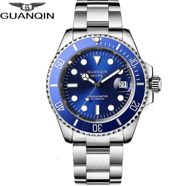 GUANQIN 2020 Japan Movement Automatic Diving Watch Waterproof Men Mechanical Watch Top Brand Ceramics Sapphire Relogio Masculino
