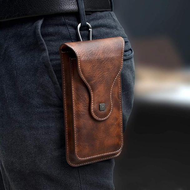 Multi-Function Leather Mobile Phone Waist Bag Holster Belt Clip Case with 2 Pocket