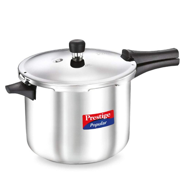 Prestige Induction Base Stainless Steel Pressure Cooker, 7.5 Litters, Silver