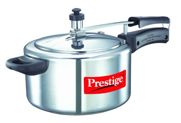 Prestige Nakshatra Plus Induction Base Aluminium Pressure Cooker, 4 litres, Silver