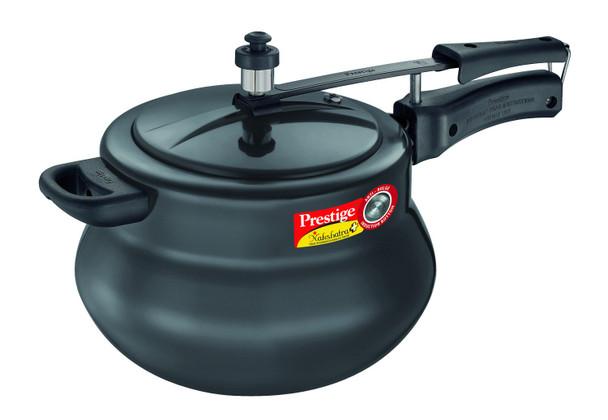 Prestige Nakshatra Plus Hard Anodised Aluminium Pressure Handi, 6.5 Litres, Black