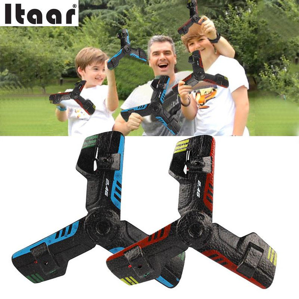 2.4G Creative RC Triangle UFO Remote Control Flying Saucer Toy Rc Drone Toy Light Weight Funny Gadgets Outdoor Toy Random Color
