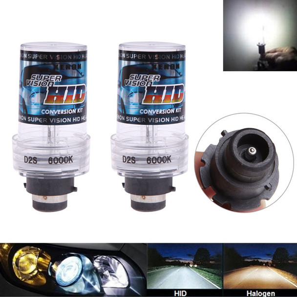 Car Styling 2pcs 35W D2S/D2C Xenon Car Replacement HID White Headlight Light Lamp Bulbs