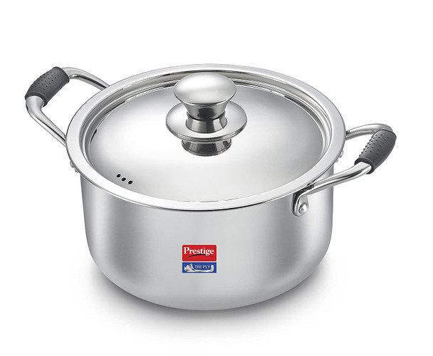 Prestige Induction Base Stainless Steel Casserole 240mm Silver