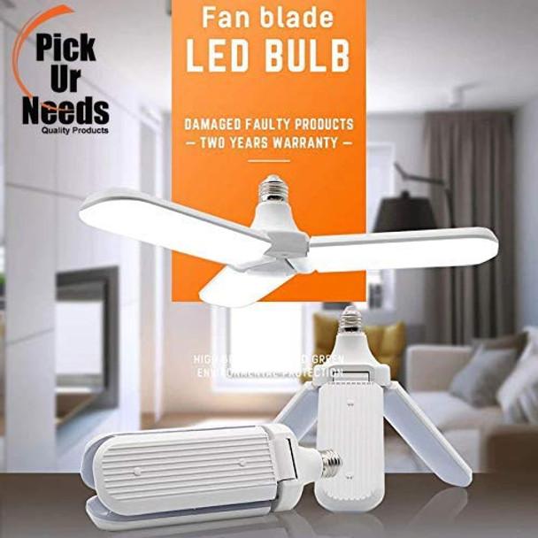 Pick Ur Needs™ B22 Foldable Light, Fan Blade LED Light Bulb, Super Bright Angle Adjustable Home Ceiling Lights, AC95-265V, Cool White Light (45) (Fan blade)