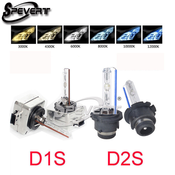 SPEVERT 55W D1S D2S HID Xenon Conversion Replacement Bulbs 5000K 6000K 8000K 10000K 12000K Headlight Single Xenon Light
