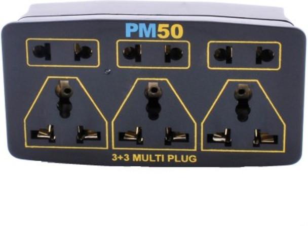 PM50 Multi Plug 6 Socket Surge Protector (Black)