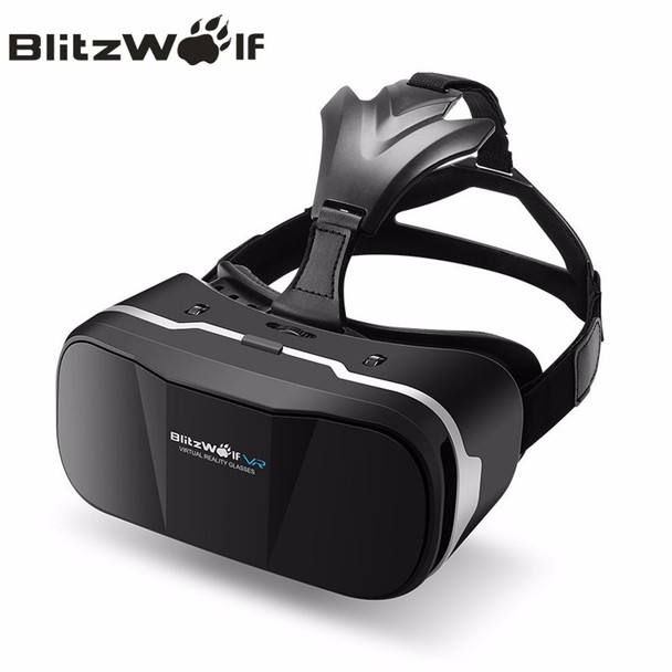 BlitzWolf Original BW-VR3 3D VR Virtual Reality Glasses Headset HeadMount For iPhone 7 6 For Samsung 3.5-6.3 inch Smartphone