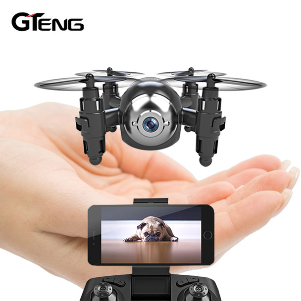 Gteng T906W FPV mini drone with camera hd quadcopter rc helicopter selfie dron remote control toys quadrocopter multicopter