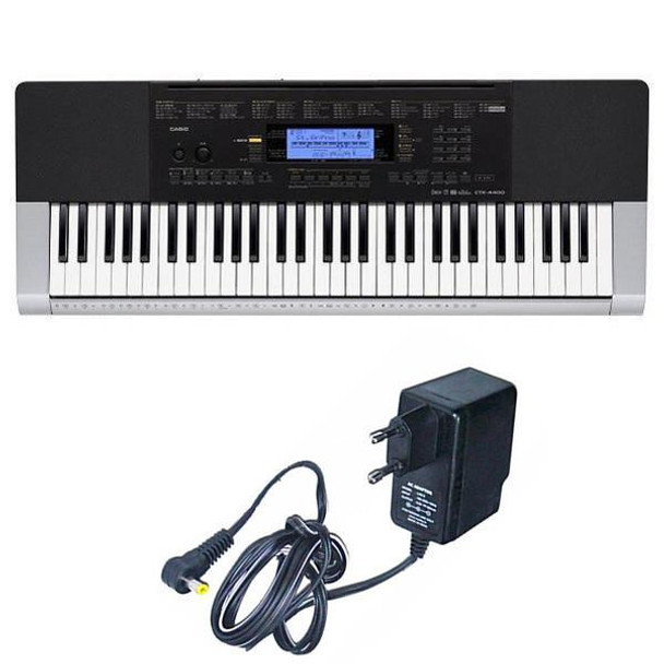 Casio CTK-4400 Electronic Keyboard, 61 Keys Full Keyboard with Adapter
