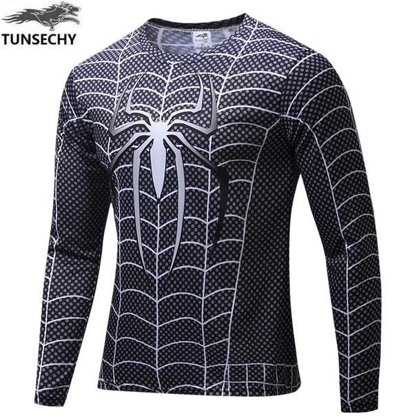 TUNSECHY Brand Marvel Comics Super Heroes Spiderman Superman Captain America Batman Iron Man T-shirt Wholesale and retail