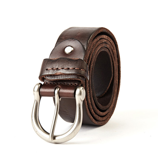 09e1a3e22231 genuine leather belt men luxury vintage men's belts brown color jeans  buckle strap good quality cowhide large size