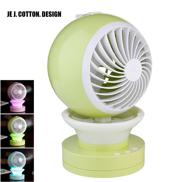 Portable Outdoor Mini Fans with LED Lamp Light Table USB Fan Spray Water Humidifier Personal Air Cooler Conditioner for Home