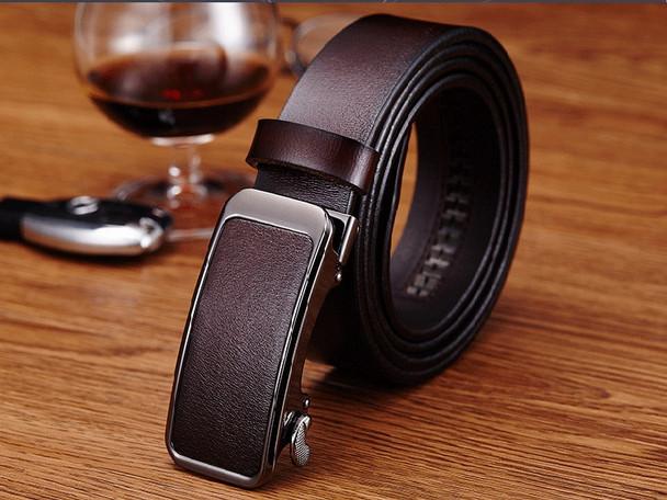 4209d705249 Hongmioo Mens Belts Luxury High Quality Automatic Buckle Belt Designer  Leather Belt Men Casual Strap With Brown Color Wholesale