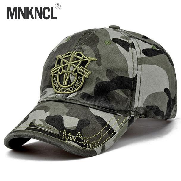 c1c743fd4 2017 New Brand Fashion Army Camo Baseball Cap Men Women Tactical Sun Hat  Letter Adjustable Camouflage Casual Snapback Cap