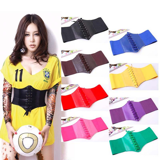 2017 Fashion Corset Wide PU Leather Slimming Body Shaping Belts For Women,Elastic Tight High Waist Wide Belt,ceinture femme