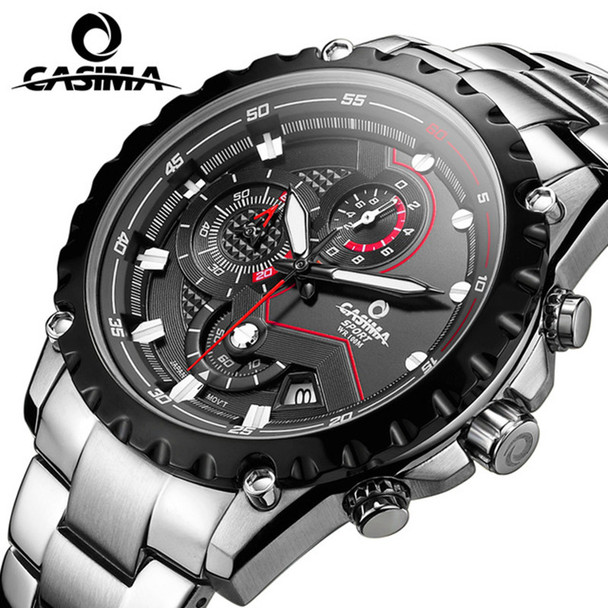 CASIMA fashion leisure and business men watch sports watches multifunction treadmill wirst quartz watch waterproof 10Bar