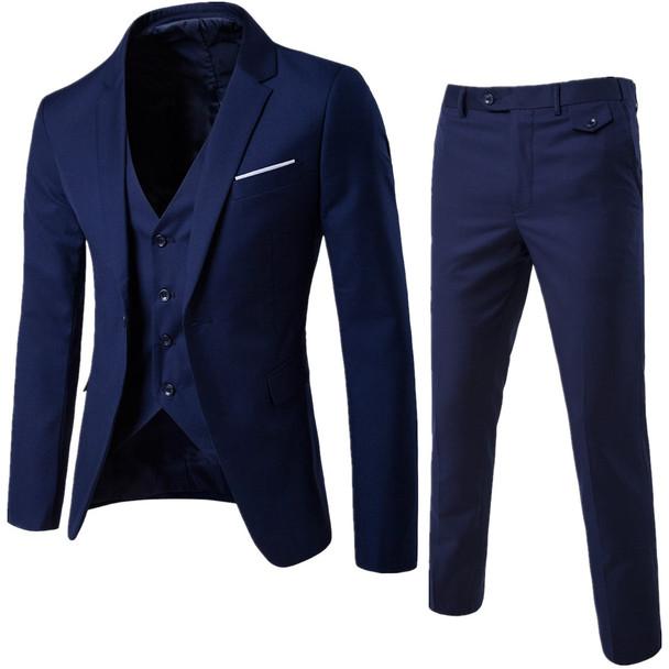 MarKyi 2017 new plus size 6xl mens suits wedding groom good quality casual men dress suits 3 peiece (jacket+pant+vest)