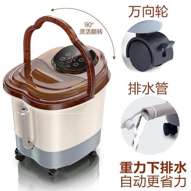 Automatic Electric Roller Massage Foot Spa Device Footbath Machine Smart Control Foot Heating Massager Safe Bucket Basin