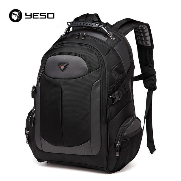dad475ceb65 YESO Brand Laptop Backpack Men s Travel Bags 2018 Multifunction Rucksack  Waterproof Oxford Black Computer Backpacks For Teenager
