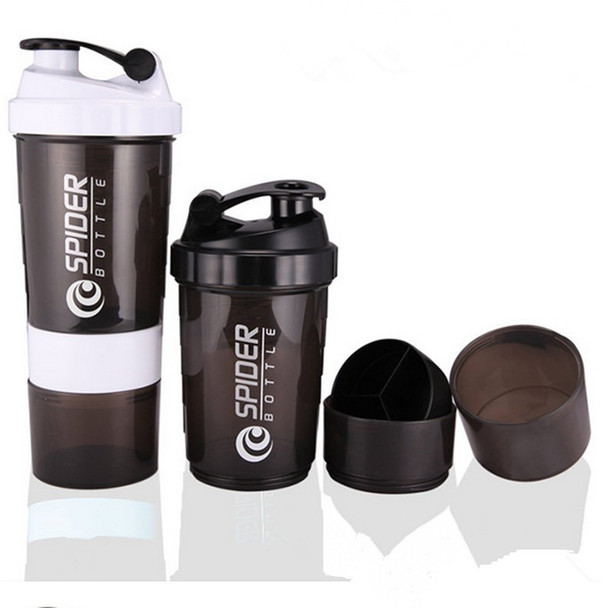 Sports Nutrition Whey Protein Shaker Blender Mixer Sports Fitness Gym 3 Layers Multifunction 500ml Free Shaker Bottle V1479