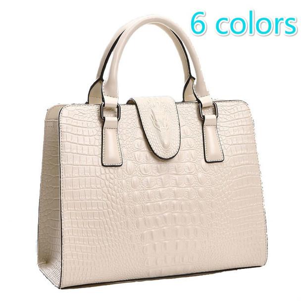 Genuine leather bag ladies 2016 crocodile pattern Women messenger bags handbags women famous designer high quality fashion