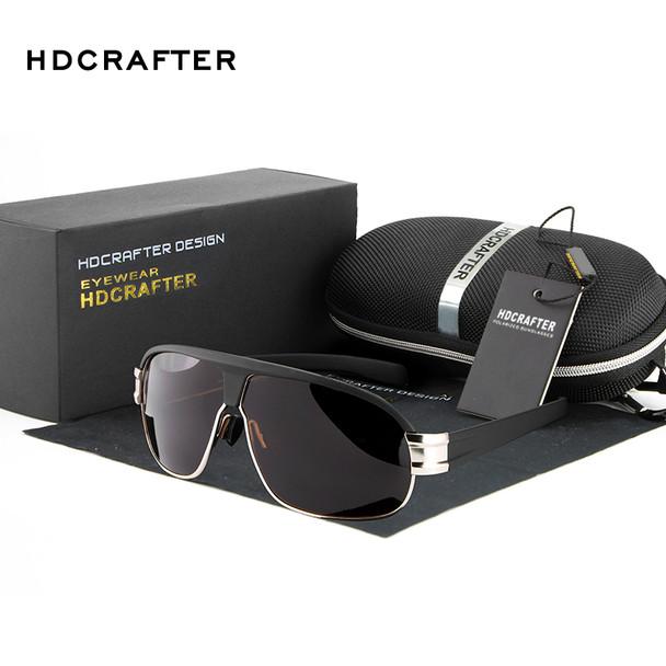 2018 New Fashion Polarized Sunglasses HDCRAFTER Brand Aviador Sunglasses Driving Sun Glasses for Men oculos de sol masculino