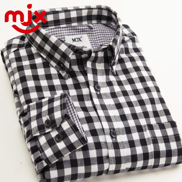 New Autumn Brand Men's Plaid Shirt Male Warm Long Sleeve Shirt Plus Size Youth Office Business Casual Shirt Men
