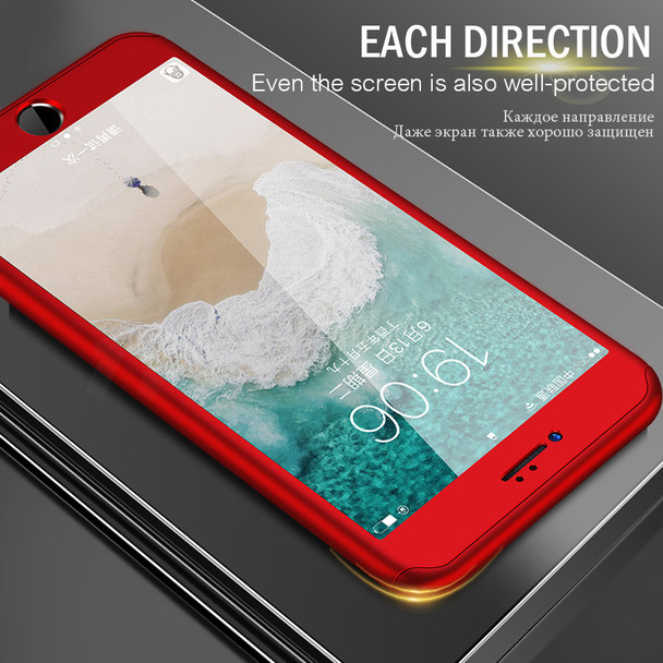 H&A 360 Degree Full Cover Phone Case For iPhone 7 8 6 6s Plus Protective Cases For iPhone 6 6s 7 8 Plus With Tempered Glass