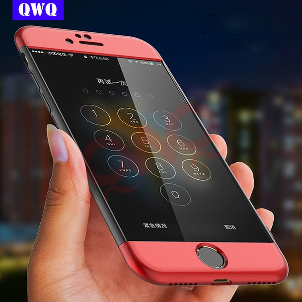 Luxury Full body Coverage For iPhone 7 Plus Phone Case matte 360 protective Shell for iPhone 6 6s Plus 8 Plus case Cover Coque