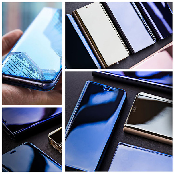 Smart Leather Flip Stand Mirror Case For iPhone 6 6s 7 8 Plus X Mirror Flip Case For iPhone 6Plus 7Plus 8Plus X Case 360 Cover