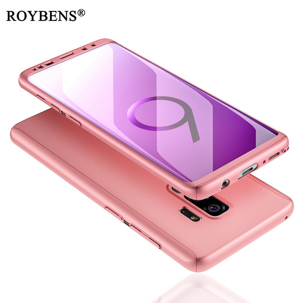 outlet store 08083 31803 360 Full Protection Case For Samsung Galaxy S9 S9Plus Ultra Thin Slim Matte  Hard Cover For Samsung S9 Plus Soft Screen Protector