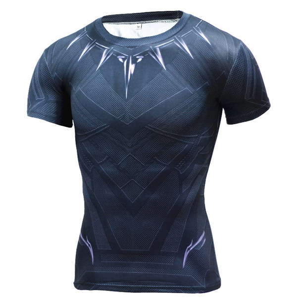 Black Panther T Shirt Captain America 3 Superhero Winter Soldier 3D Printed T-shirts Fitness Men Crossfit Compression Shirt
