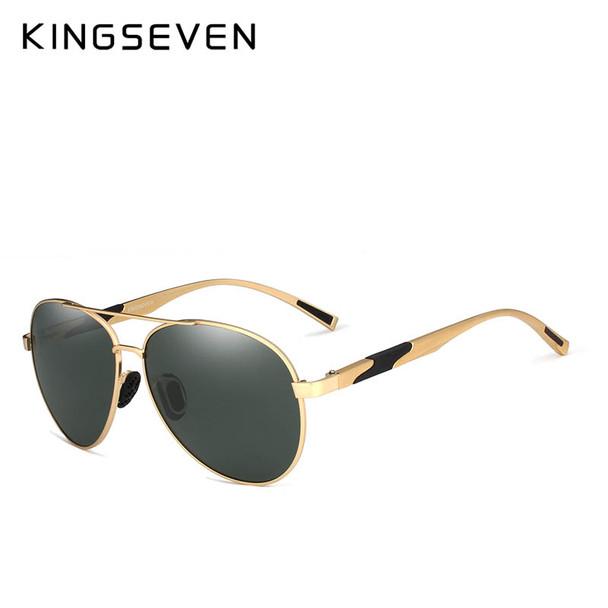6b8532300d34 KINGSEVEN DESIGN Men Classic Polarized Sunglasses Aluminum Pilot Sun  glasses UV400 Protection NF-7228 - OnshopDeals.Com