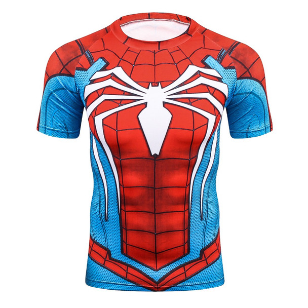 Batman Spiderman Venom Ironman Superman Captain America X-man Punisher Marvel Compression T shirt Avengers Superhero mens