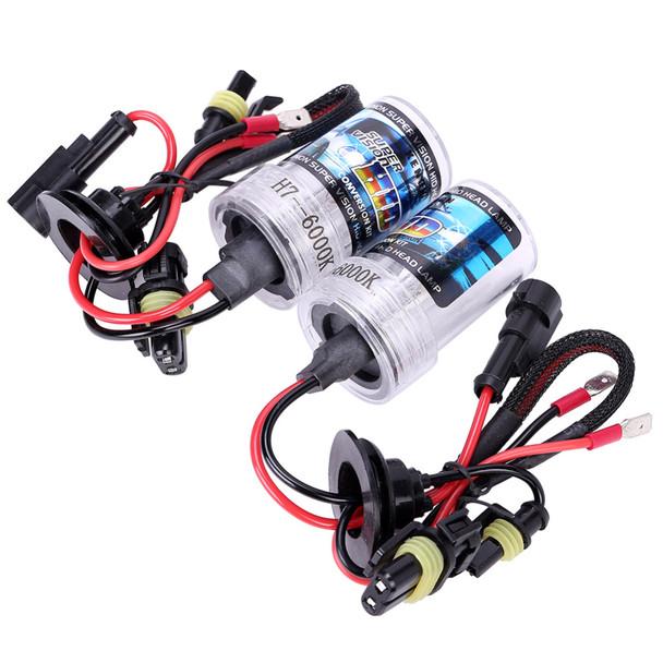Car 12v Hid Xenon h7 55w 6000k Headlights Hid Xenon h7 55w 6000k 8000k 35w Kit 4300k Replacement Bulb 12v Head Light Lamp Auto