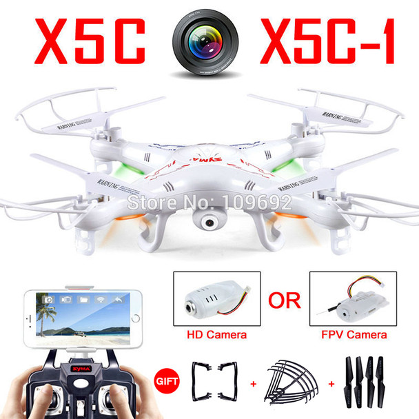 c77873d50a67 100% Original Syma X5C-1 (Upgrade Version Syma X5C) Drone Can Add WIFI FPV  HD 2MP Camera RC Quadcopter Helicopter Toy VS H31 H22
