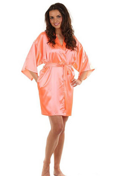 a363cb2a17 RB030 Sexy Large Size Sexy Satin Night Robe Lace Bathrobe Perfect Wedding  Bride Bridesmaid Robes Dressing Gown For Women - OnshopDeals.Com